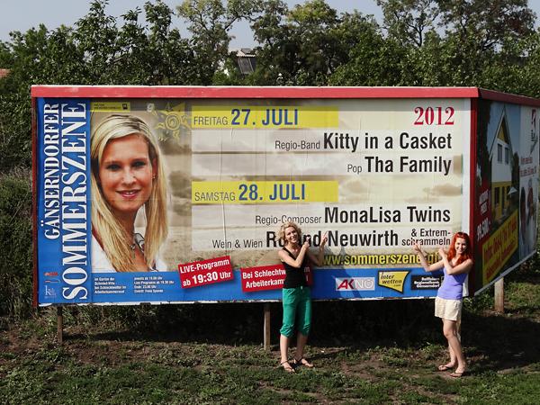 MonaLisa Twins Live-Konzert Sommerszene Gänserndorf