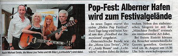 MonaLisa Twins in Viennese Heute Magazine